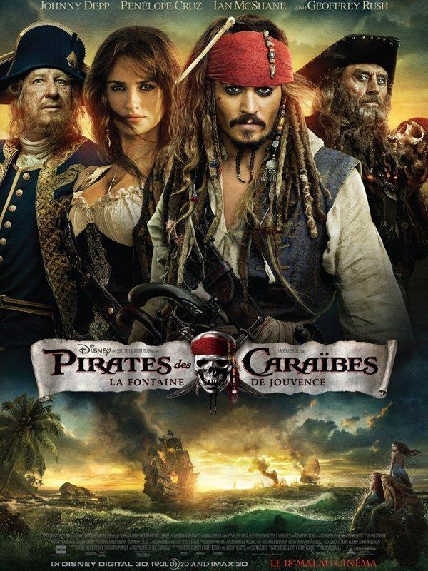 Affiche film Pirate des Caraïbes 4