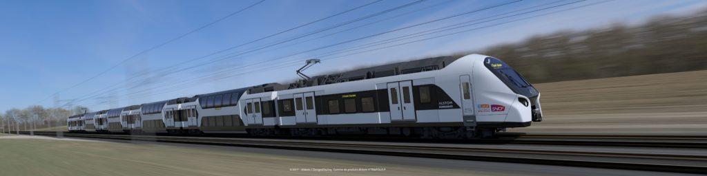 Les futures rames du RER E.