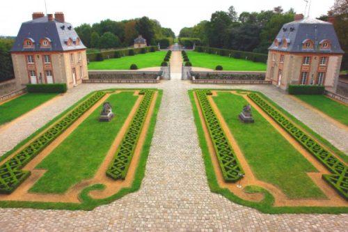 Axe_nord_sud parc du château de Breteuil - crédit Fabrice Milochau