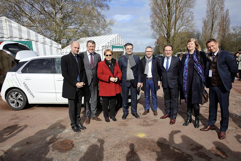 Les présidents des départements franciliens à Vedecom © CD78 / N.Duprey