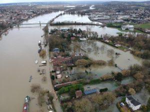 Inondations à Triel-sur-Seine