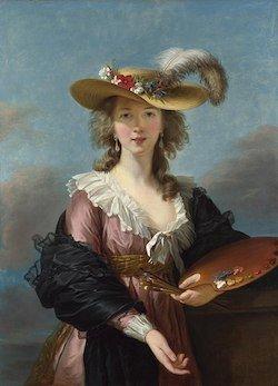 Autoportrait au chapeau de paille (après 1782) © Wikimédia
