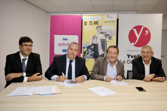 ActivitY' et l'Ecole de la Deuxième Chance signent un partenariat © CD78/N.DUPREY