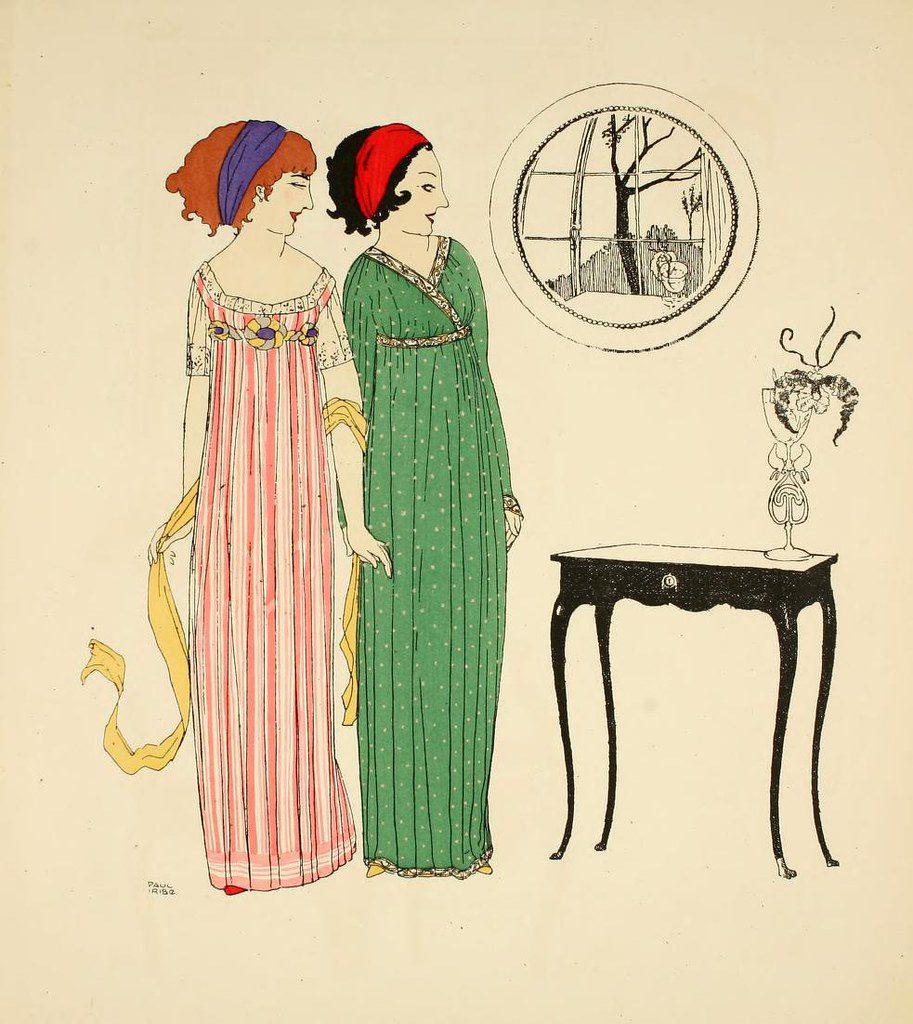 Les robes de Paul Poiret 1908 / Wikimédia