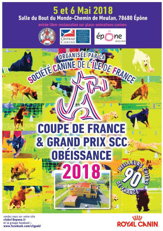 comp tition canine championnat de france obe ssance 5 6 mai 2018 yvelines infos. Black Bedroom Furniture Sets. Home Design Ideas