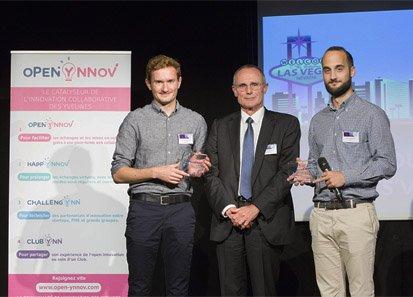 Les deux lauréats yvelinois du concours Challenge Pazris Saclay CES Las Vegas