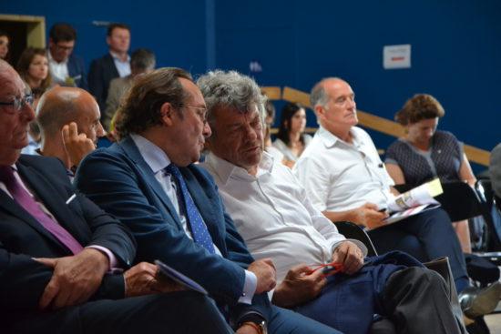 Pierre Bédier, Président du Conseil départemental des Yvelines avec Jean-Louis Borloo, ancien Ministre de la Ville