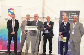 GPS&O et Suez présentent leur nouveau chantier aux Mureaux © GPS&O