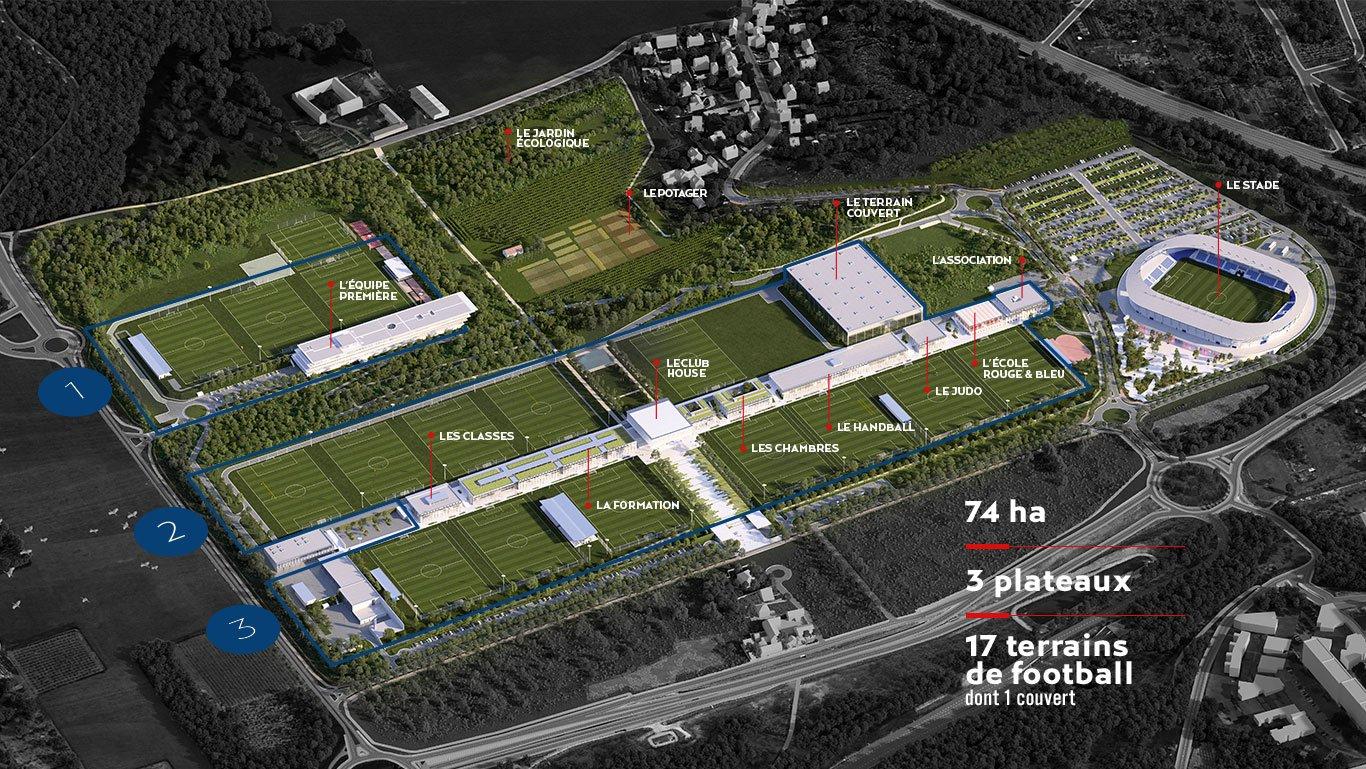 Le plan général du Campus © PSG