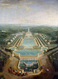 Le Château de Marly par Pierre-Denis Martin en 1724 © Wikimédia