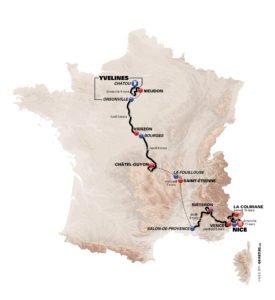 Paris Nice 2018 parcours