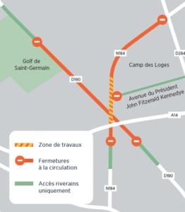 Travaux : fermeture de nuit RD190 et RN184 à Saint-Germain-en-Laye