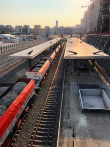 Eole : premier rail posé à Nanterre © CD78/C.BRINGUIER