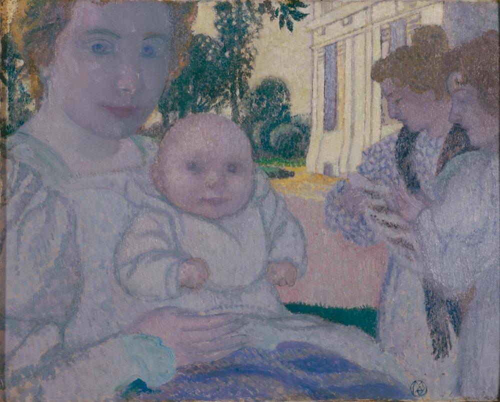 """""""Maternité à Mercin"""" - 1896, Maurice Denis © Musée départemental Maurice Denis"""