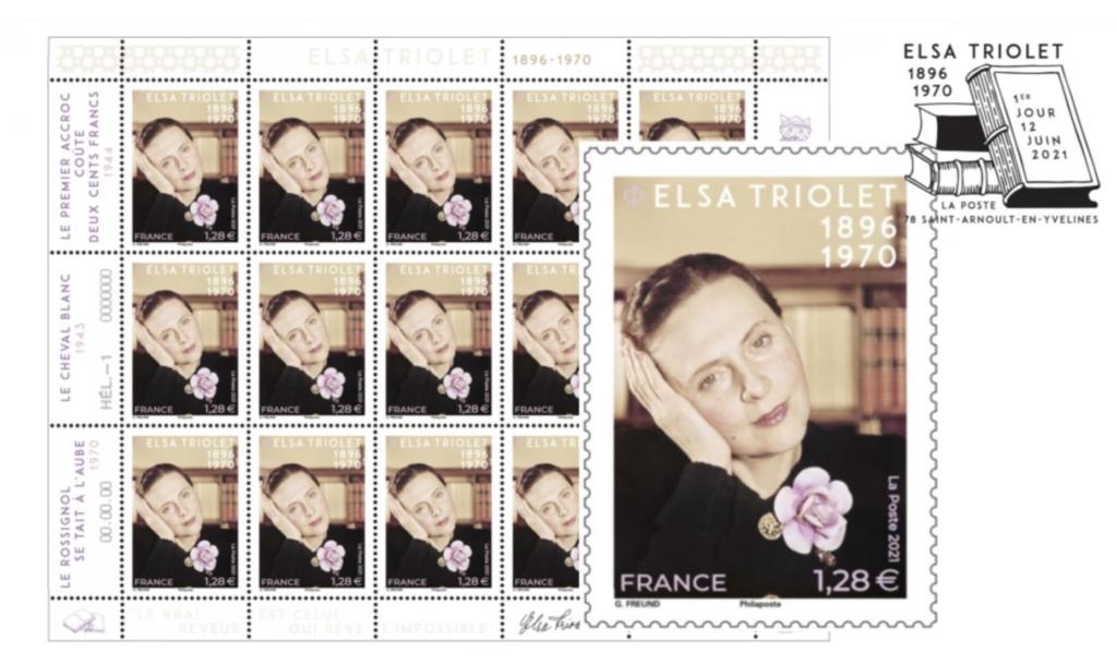 Un nouveau timbre Elsa Triolet édité par La Poste