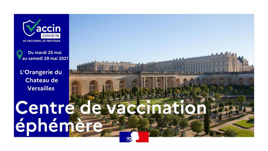 Un centre de vaccination éphémère au Château de Versailles