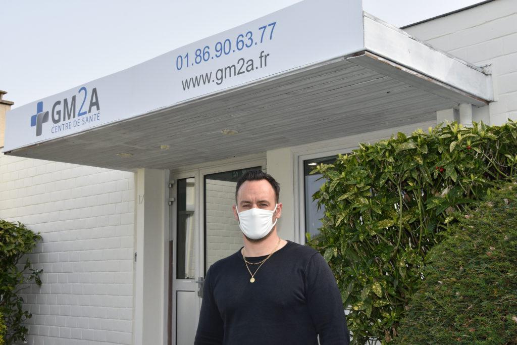Olivier directeur du centre de santé pluridisciplinaire. CD78/Y.Fossey