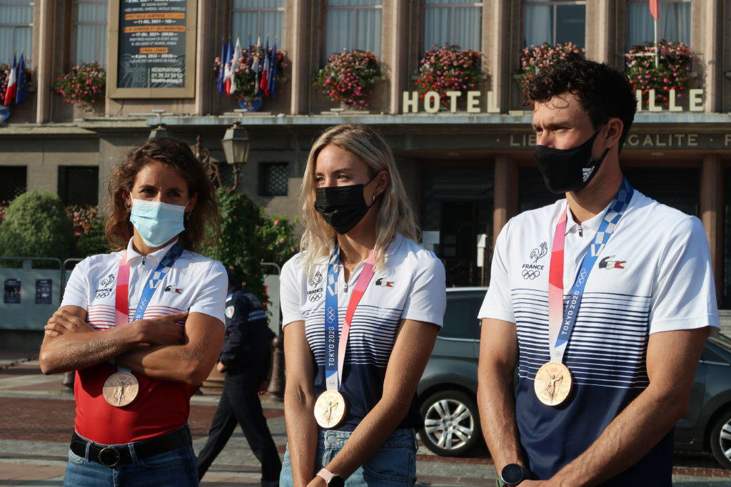 Poissy pays tribute to its medal-winning triathletes in Tokyo